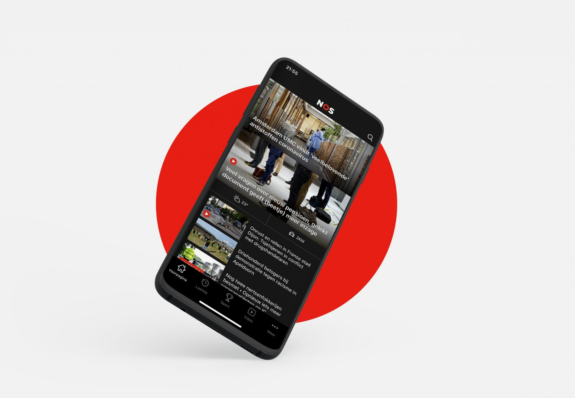 NOS app huisstijl en ontwerp