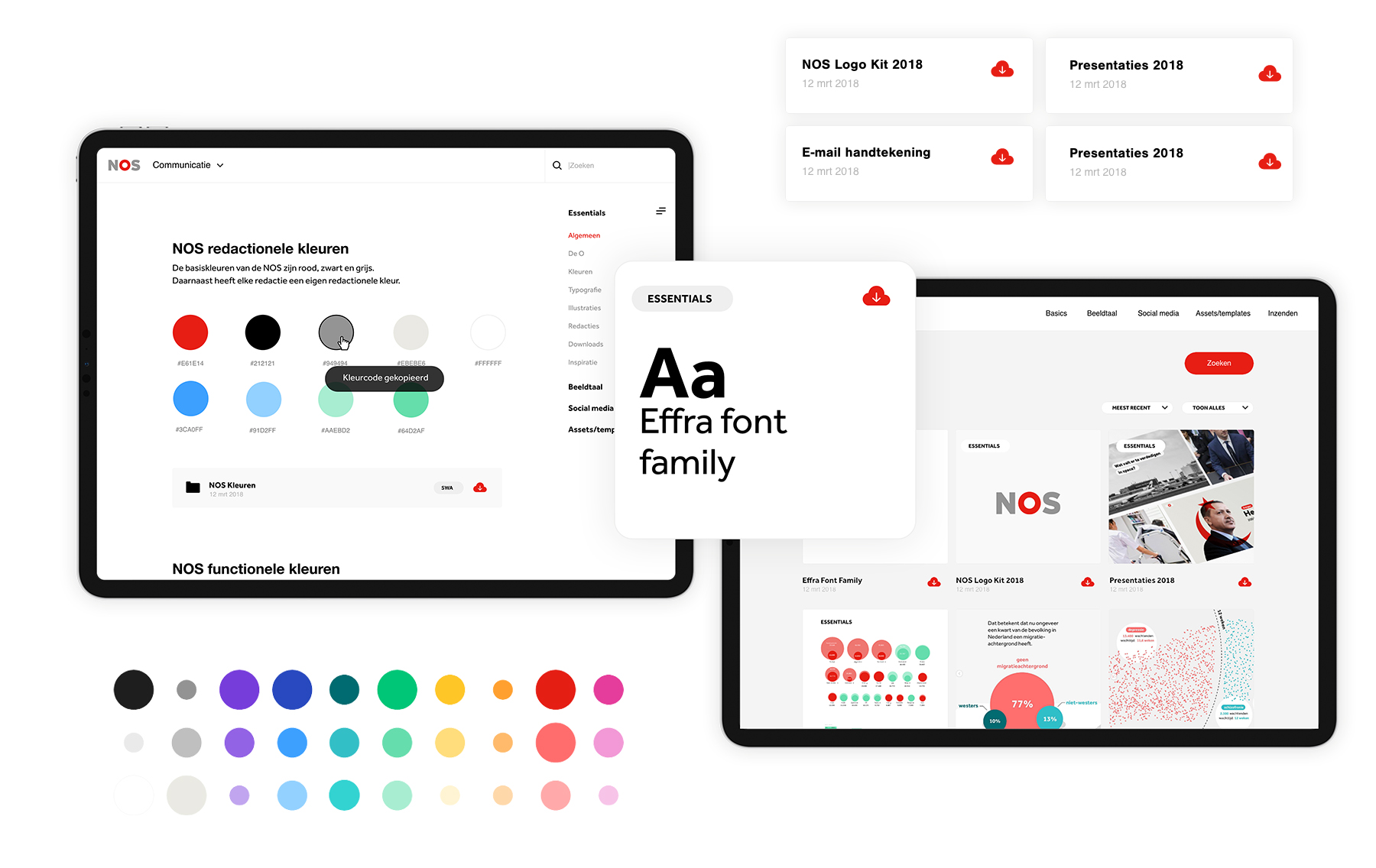 NOS online brandbook ontwerp en ux