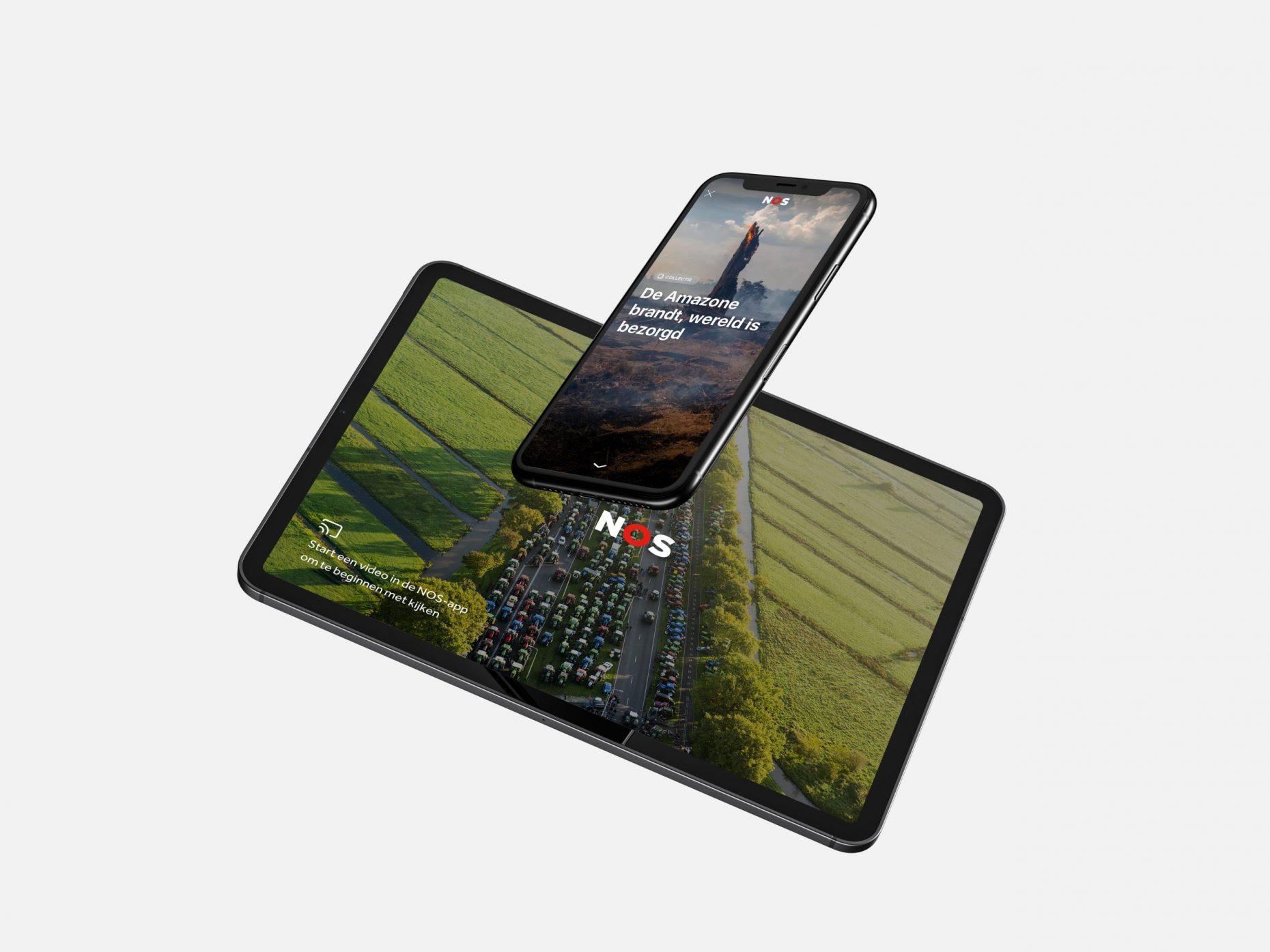 NOS Online collecties op tablet en mobile