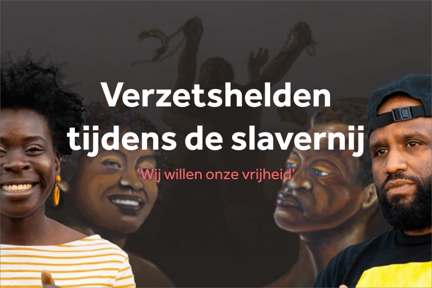 NOS Verzetshelden tijdens de slavernij special poster