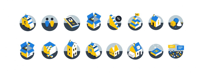 Iconen voor Hypotheekrente