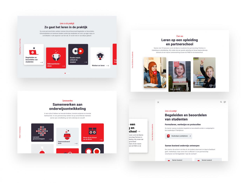 Marnix partnership website UX ontwerp