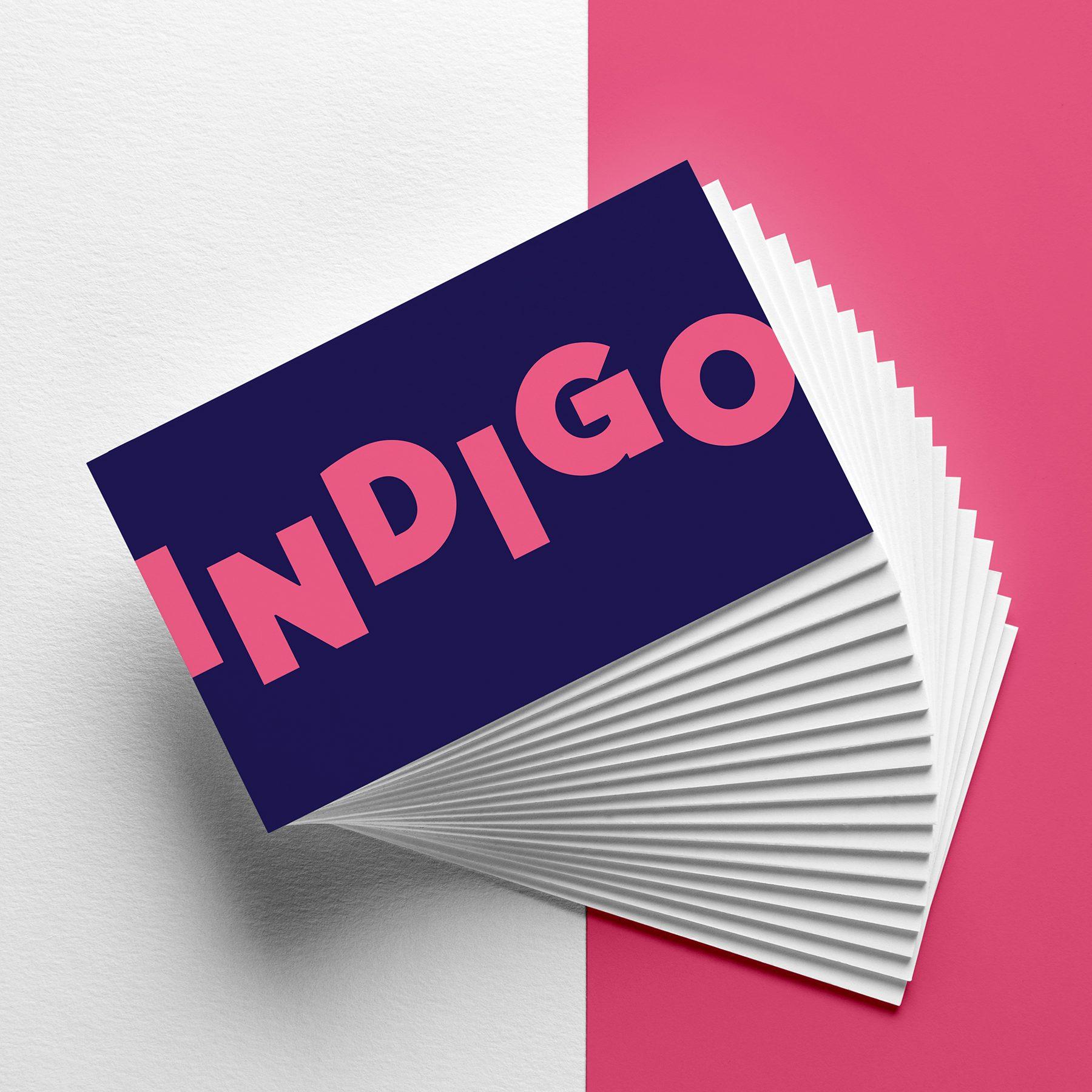 Indigo 2020 visitekaartjes concept