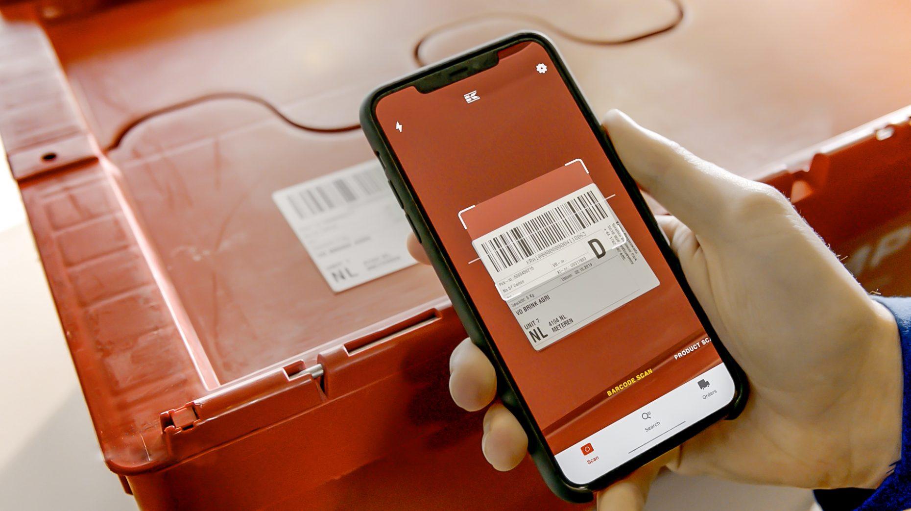Google lens product scanner in actie