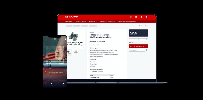 Kramp webshop interactie ontwerp