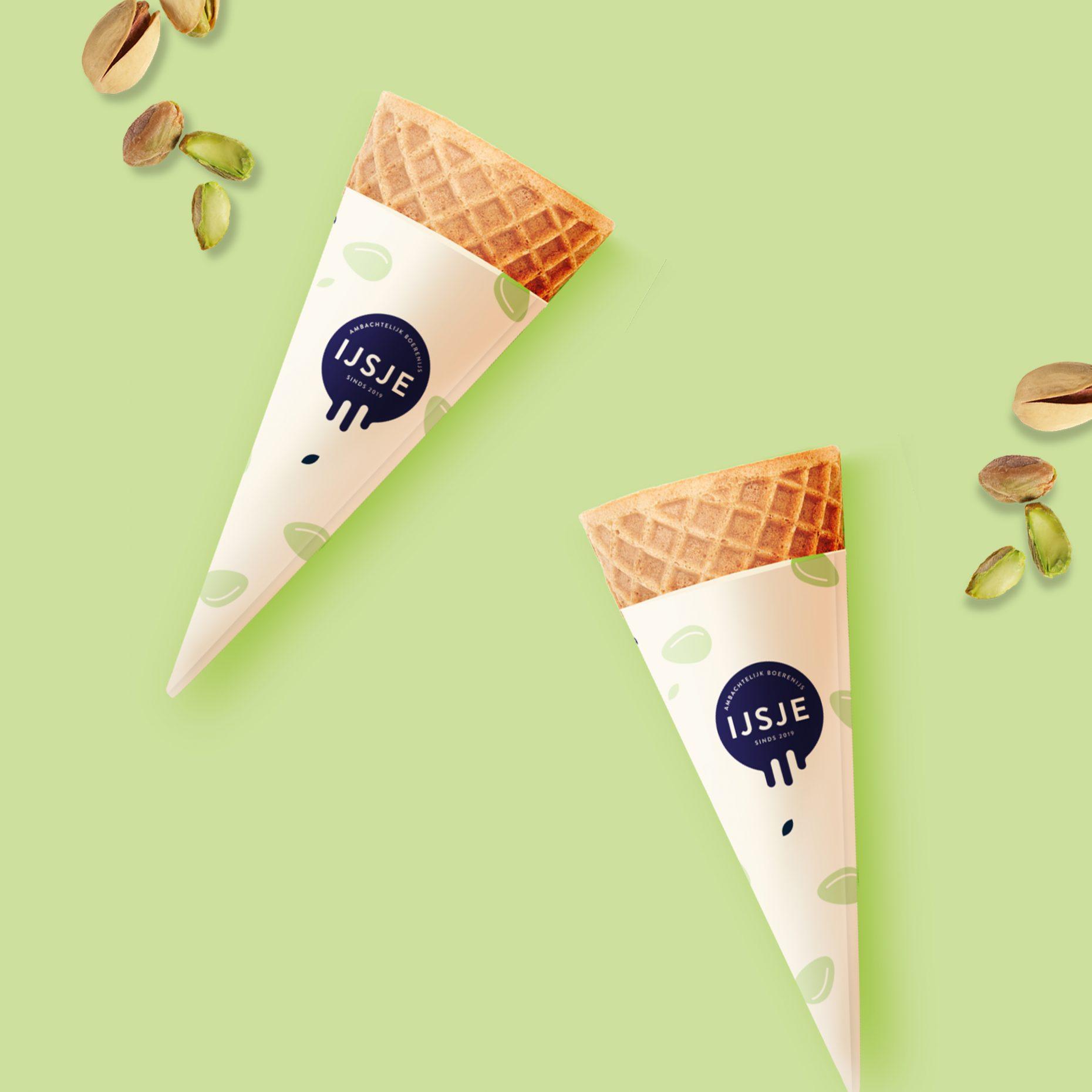 Pistache smaak ijsje mockup