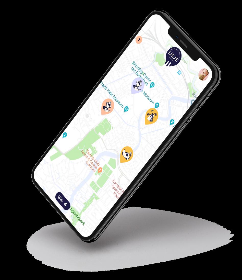 De IJSJE app ontwikkeld door Defigners