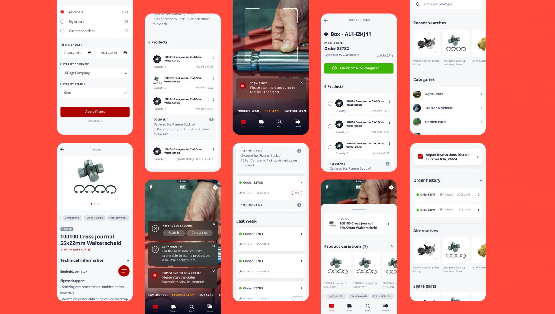 UX ontwerp kramp app